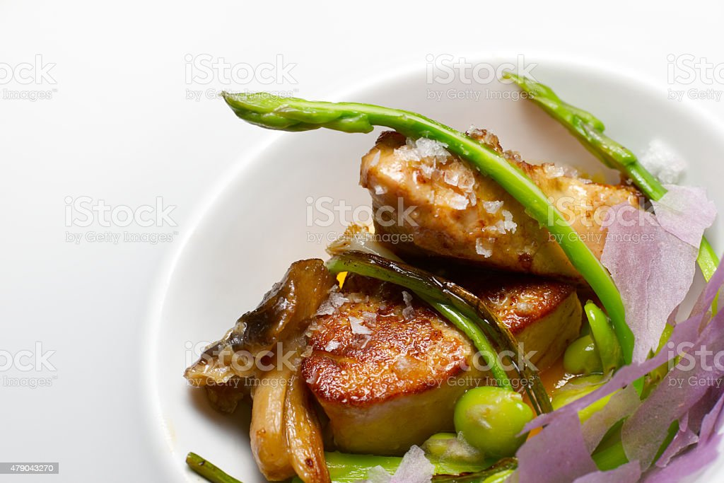 Foie gras escalope stock photo