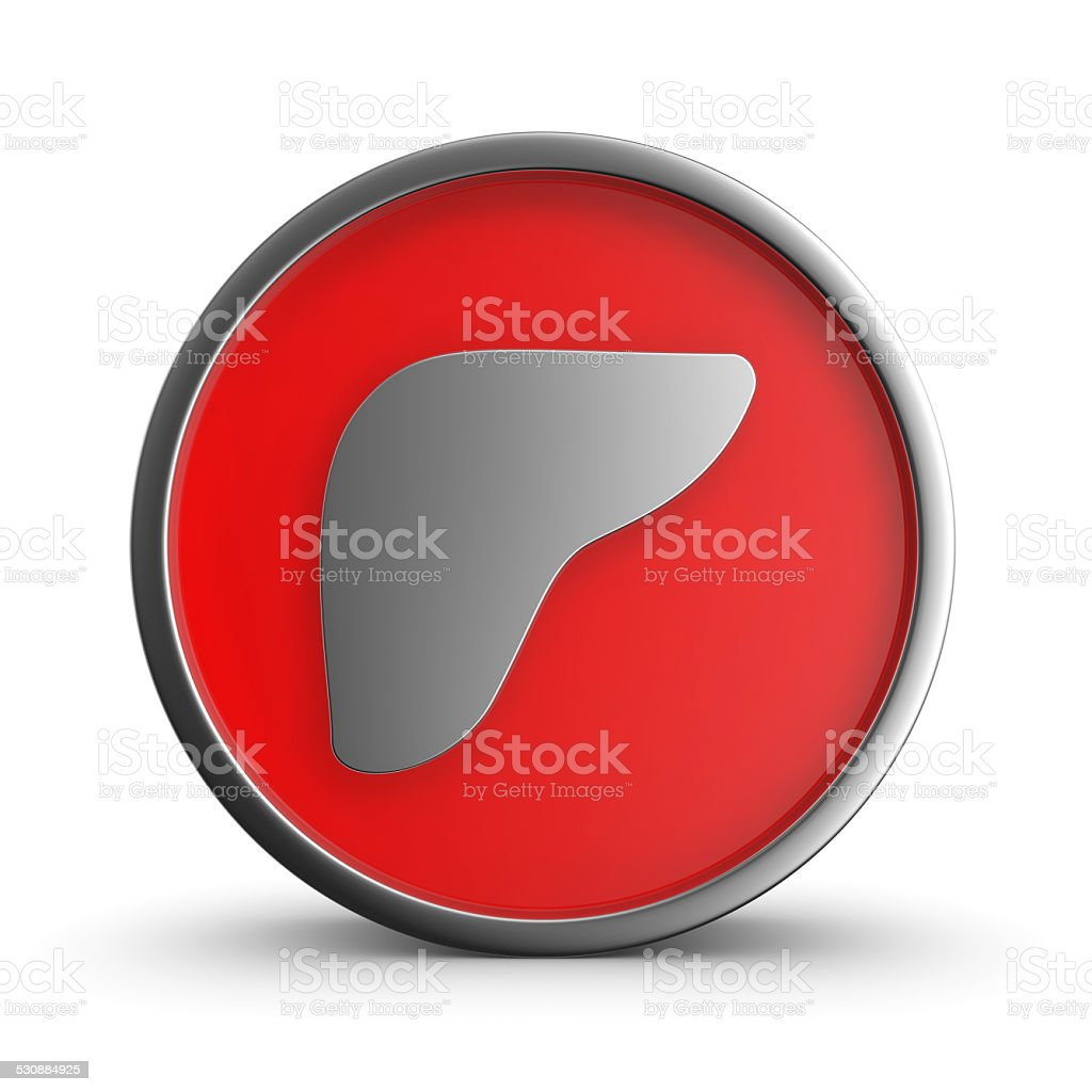 Liver icon. royalty-free stock photo
