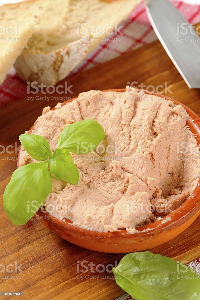 liver pate stock photo