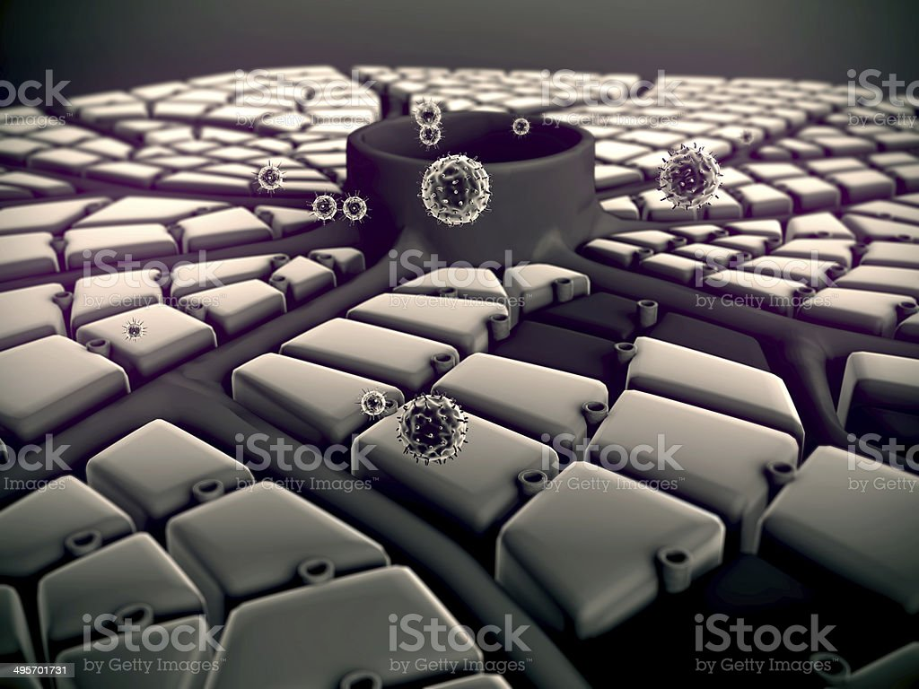 liver structure, Hepatitis stock photo