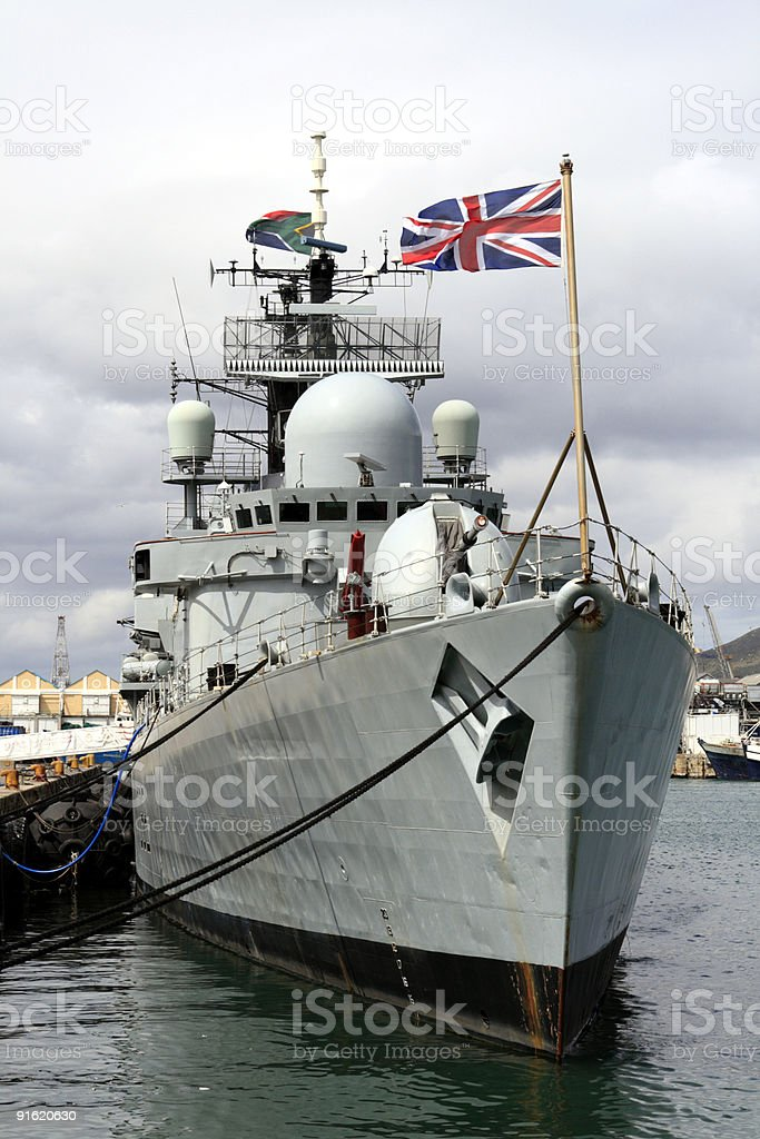 HMS Liverpool, a Type 42 Destroyer,of the Royal Navy. stock photo