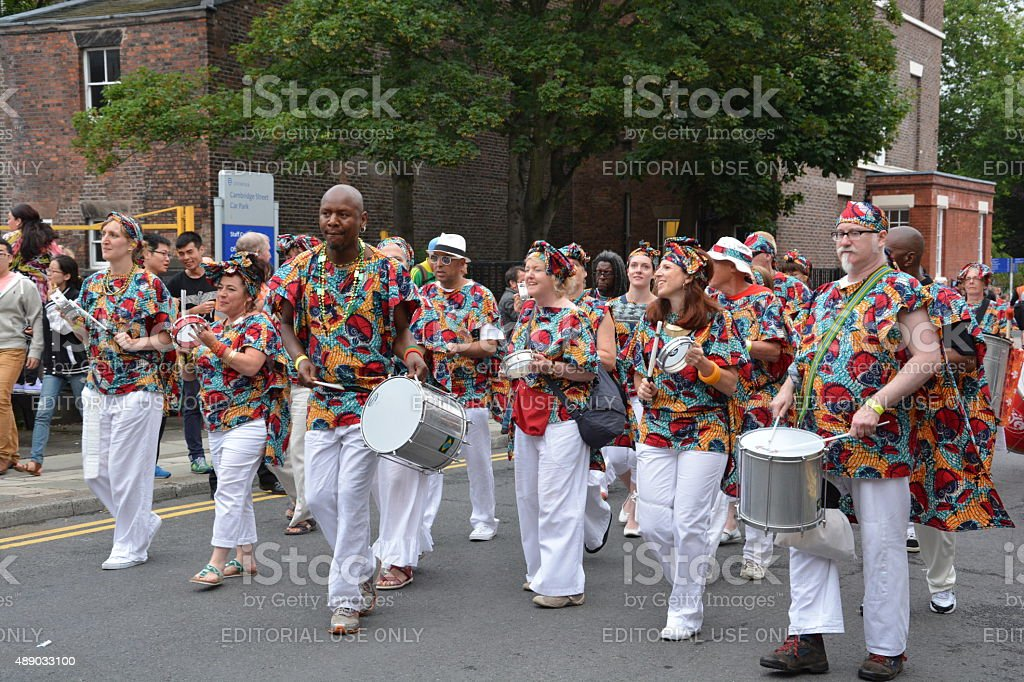 Liverpool Brazilica - Samba in the city stock photo