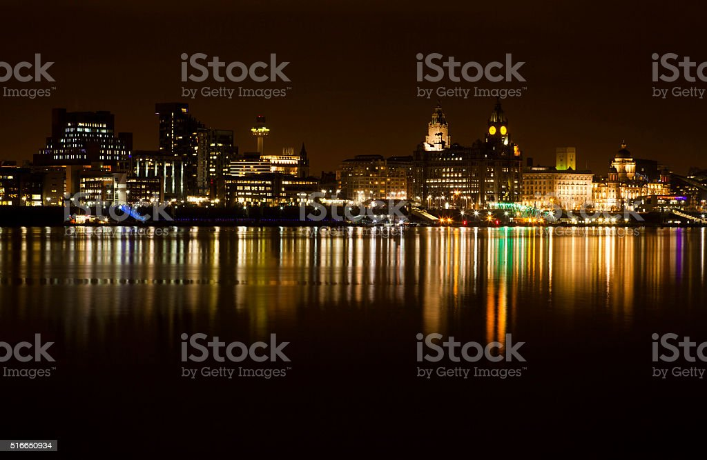 Liverpool Cityscape stock photo