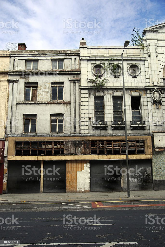 Liverpool decaying buildings royalty-free stock photo