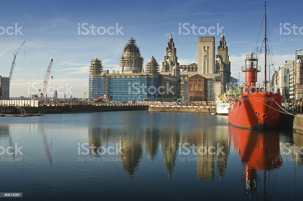 Liverpool Dock Reflection royalty-free stock photo