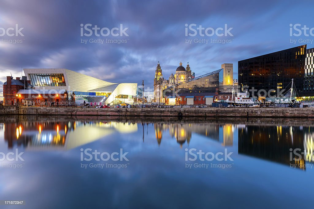 Liverpool Docks Waterfront stock photo