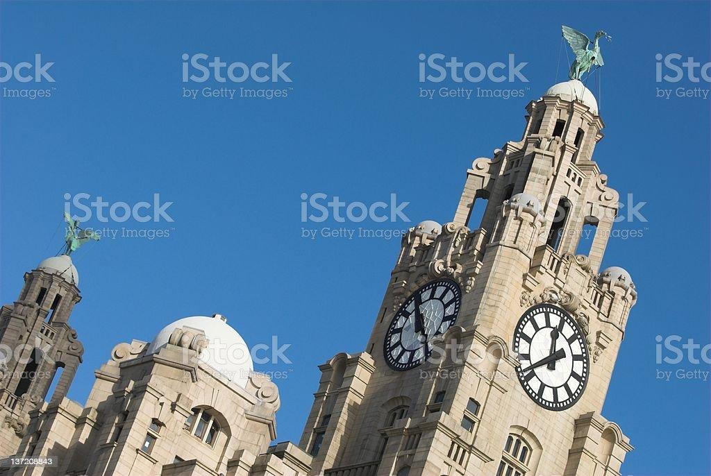 Liverpool Liver building 7 stock photo