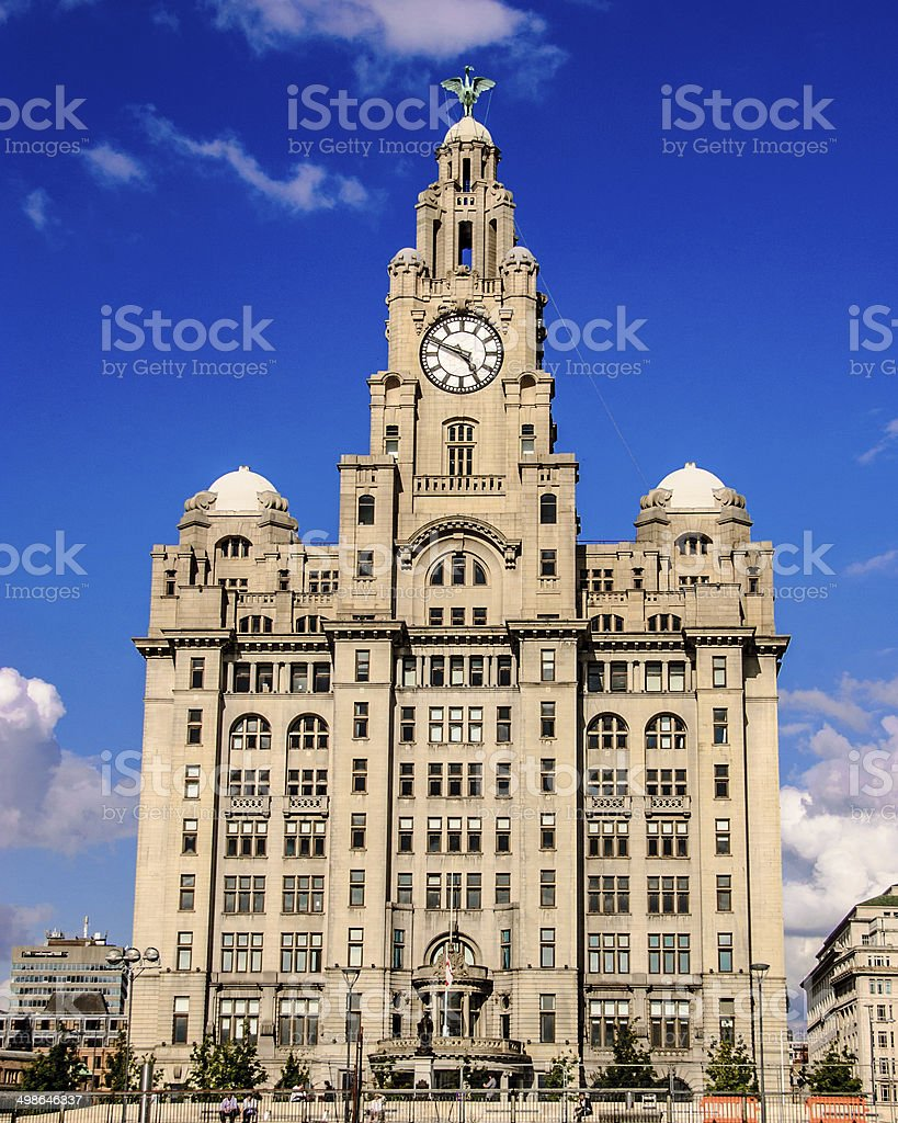 Liverpool Liver Building stock photo