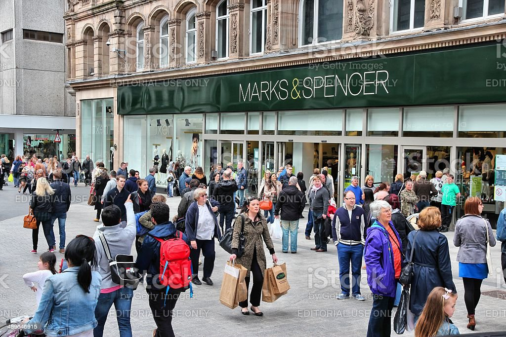 Liverpool Marks and Spencer stock photo