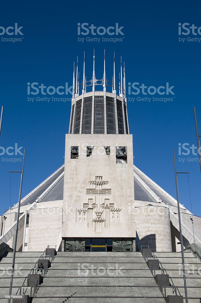 Liverpool Metropolitan Cathedral of Christ the King royalty-free stock photo