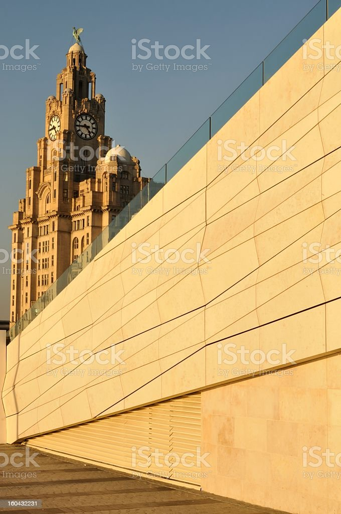 Liverpool museum and Royal Liver building royalty-free stock photo