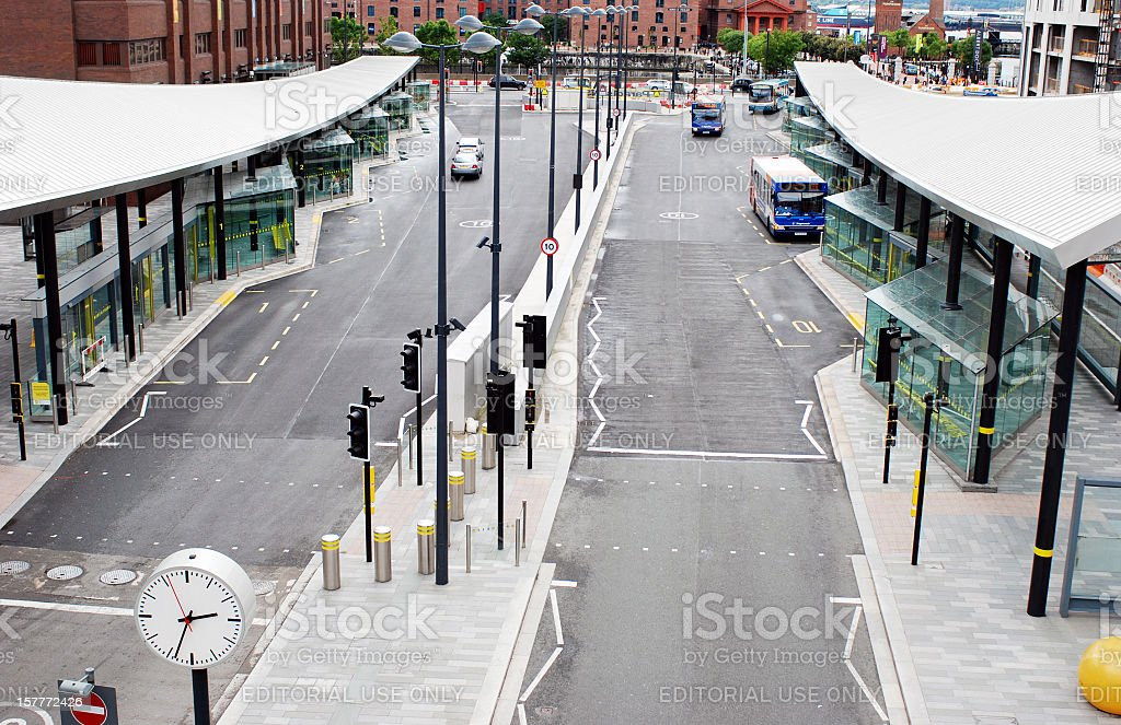 Liverpool One Bus Station from above royalty-free stock photo