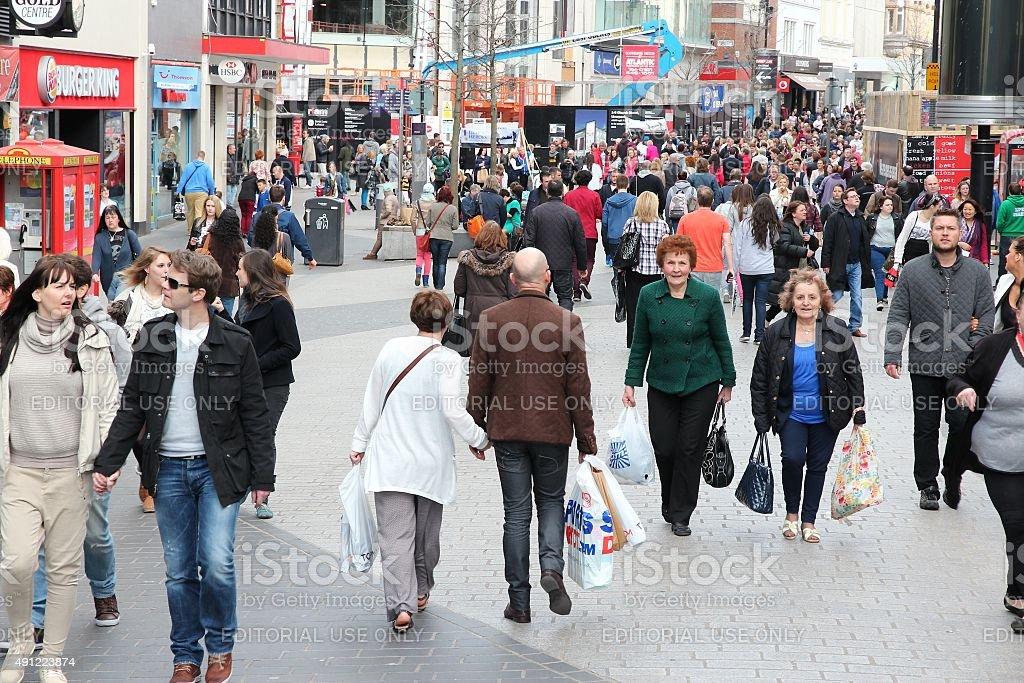 Liverpool people stock photo
