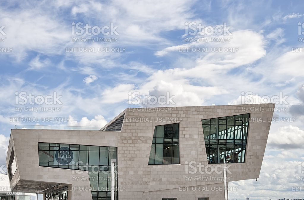 Liverpool pier head beatles story building. royalty-free stock photo