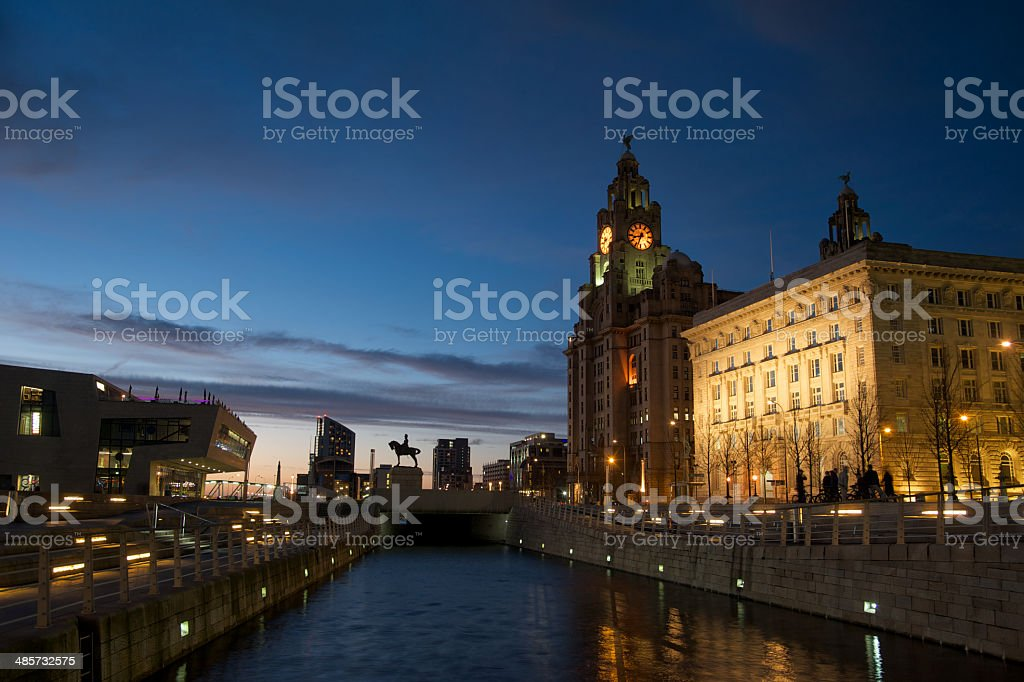 Liverpool Royal Liver Building stock photo