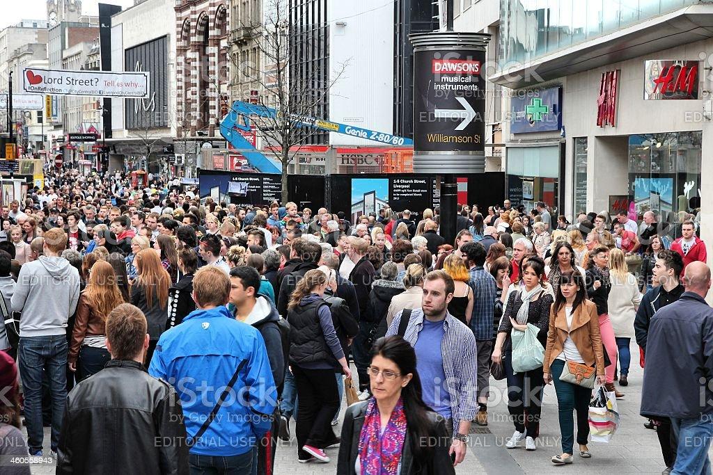 Liverpool shopping stock photo
