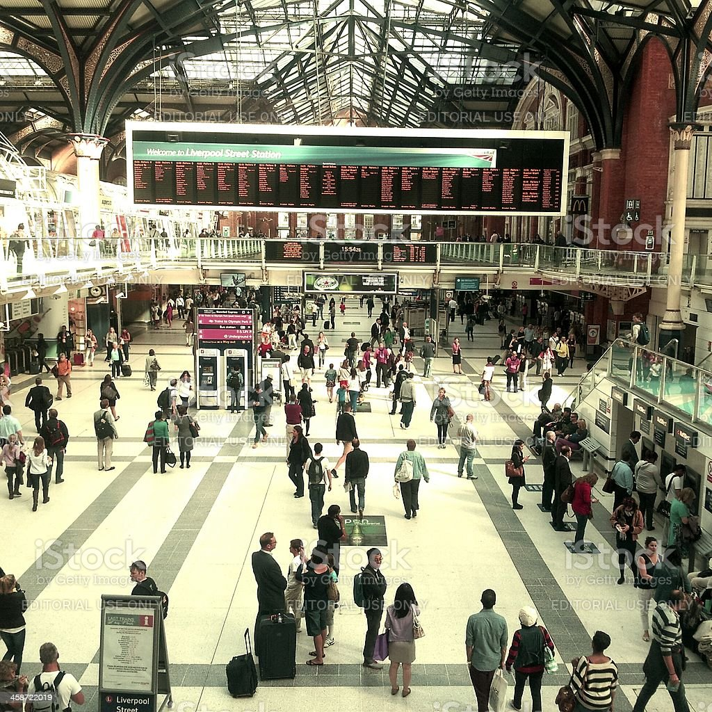 Liverpool st station royalty-free stock photo