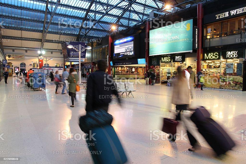 Liverpool Station stock photo