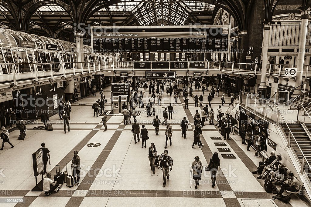 Liverpool Street in London stock photo