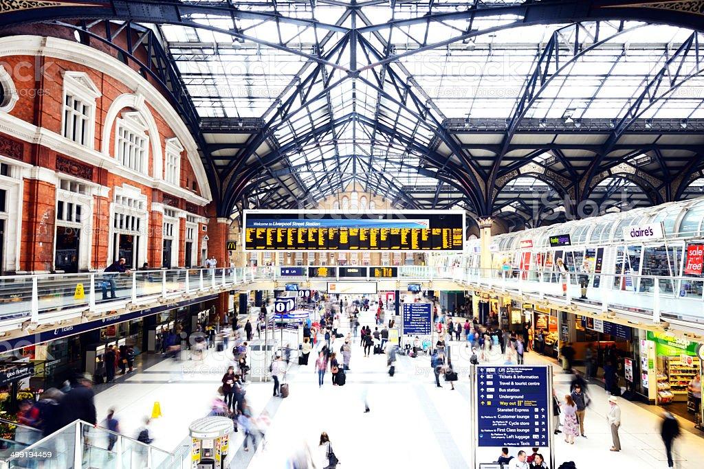 Liverpool Street Railroad Station, London - England stock photo