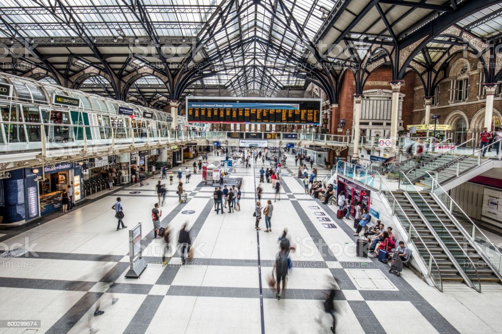Liverpool Street Station in London stock photo