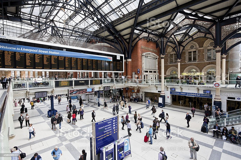 Liverpool Street Station in London, United Kingdom royalty-free stock photo