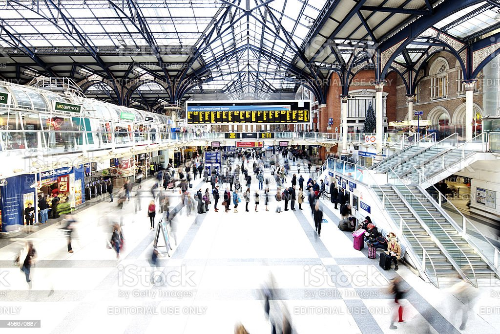 Liverpool Street Station royalty-free stock photo