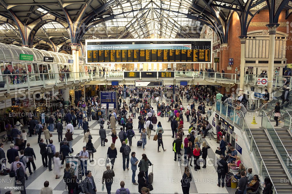 Liverpool Street Station stock photo