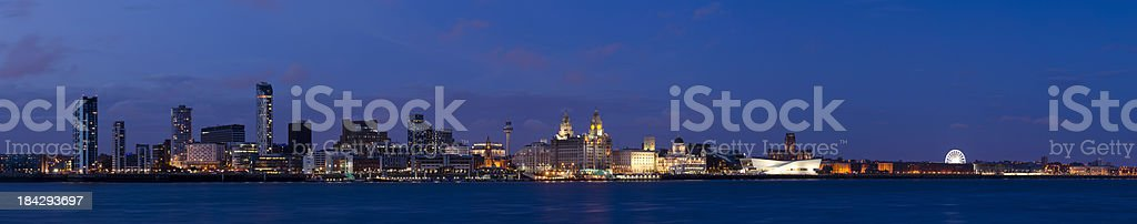 Liverpool waterfront panorama stock photo