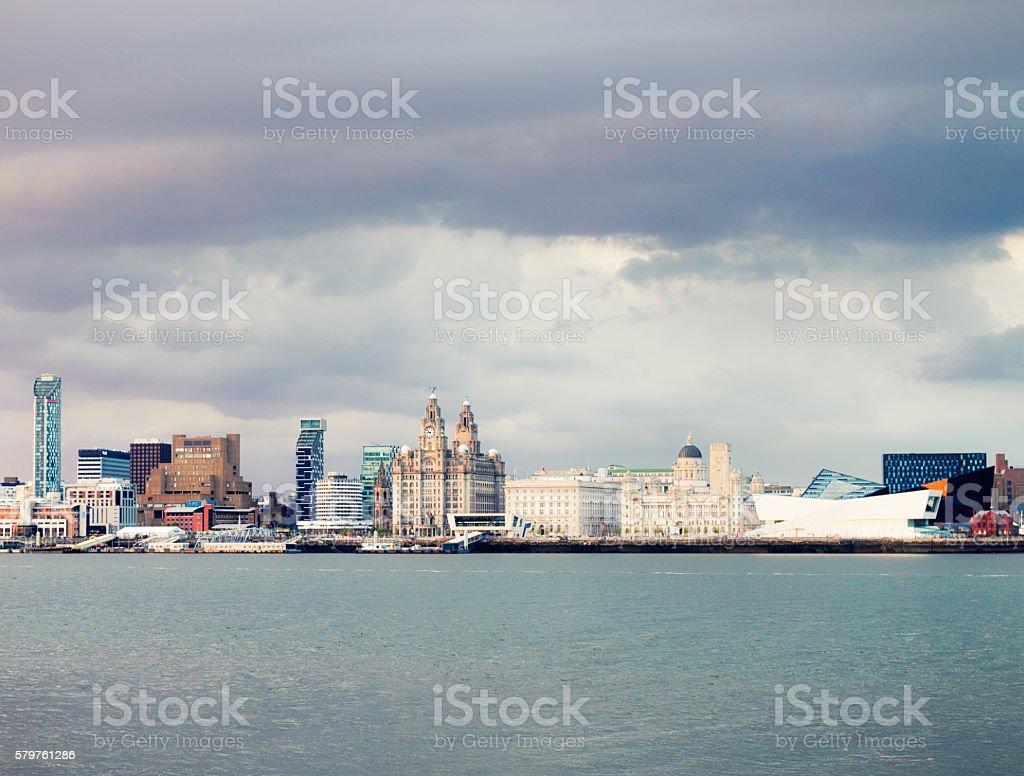 Liverpool's skyline stock photo
