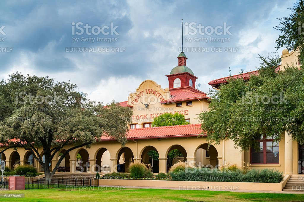 Livestock Exchange Building at Fort Worth Texas Stockyards stock photo