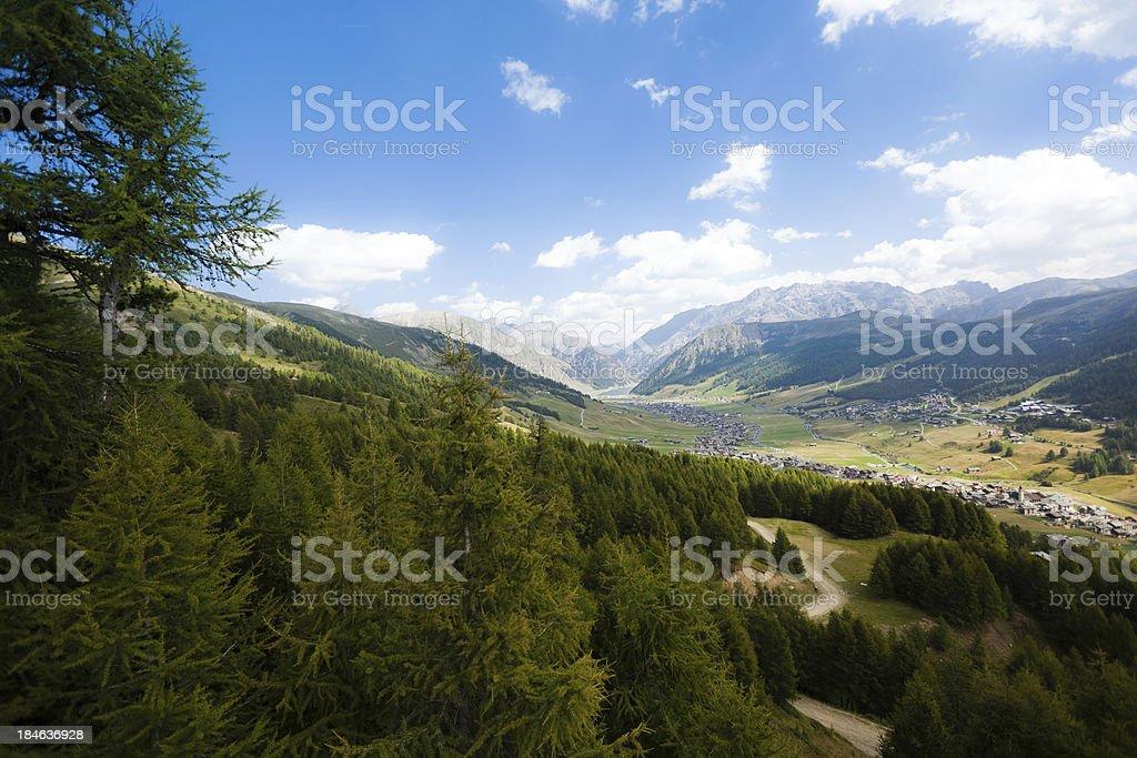 Livigno Valley royalty-free stock photo
