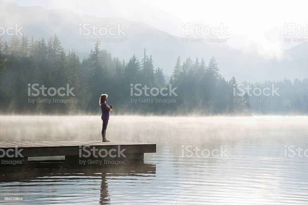 Living a healthy lifestyle in retirement stock photo
