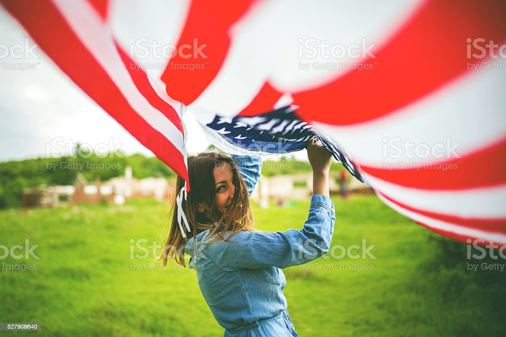 Living an American dream stock photo