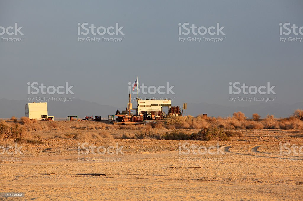 Living An Uncomplicated Life On The Desert stock photo