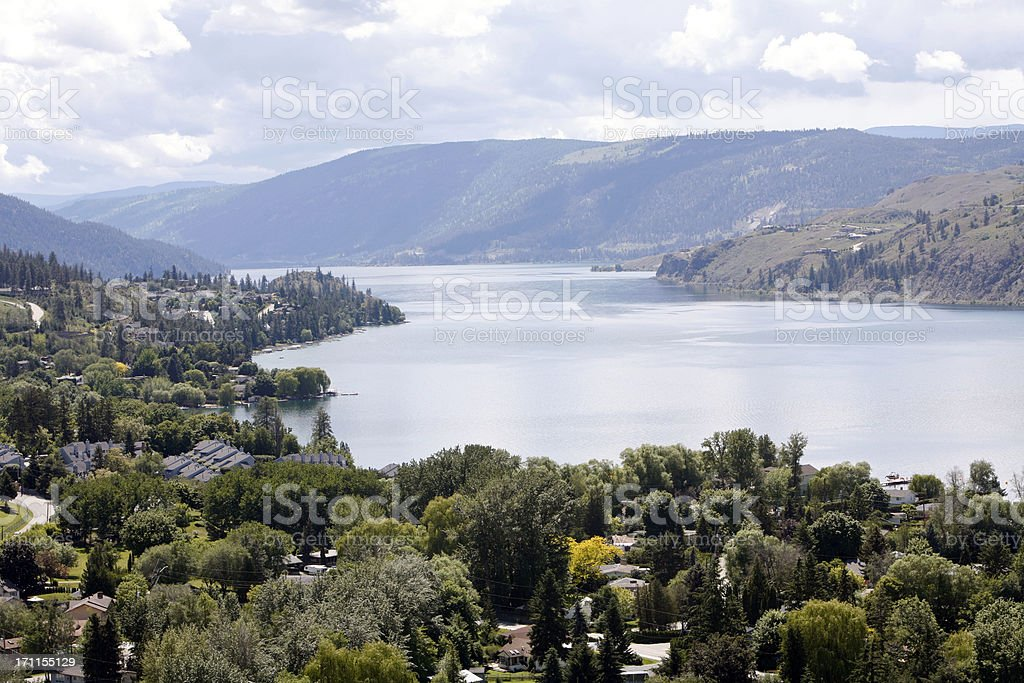 Living Around Kalamalka Lake Vernon British Columbia stock photo