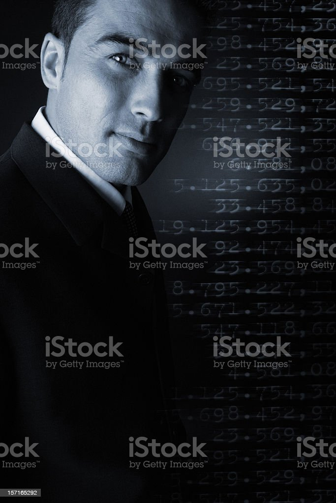 Living between ciphers royalty-free stock photo