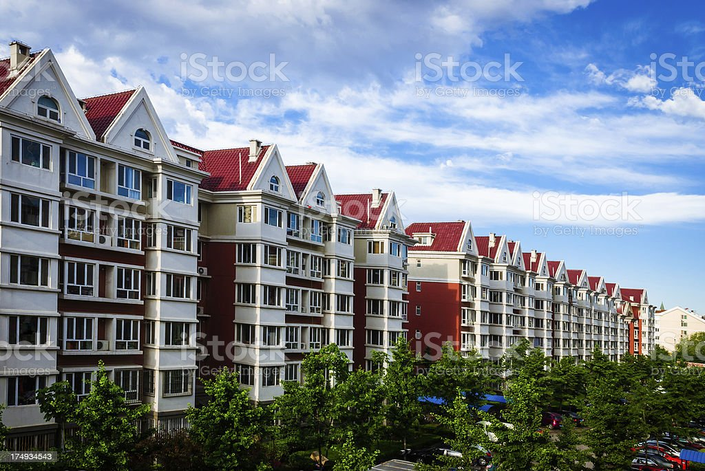 Living community in Beijing china royalty-free stock photo