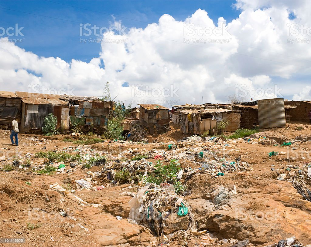 Living Conditions in an African Slum royalty-free stock photo