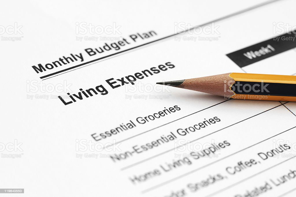 Living expenses royalty-free stock photo
