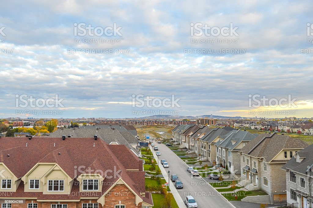 Living homes in Canada stock photo