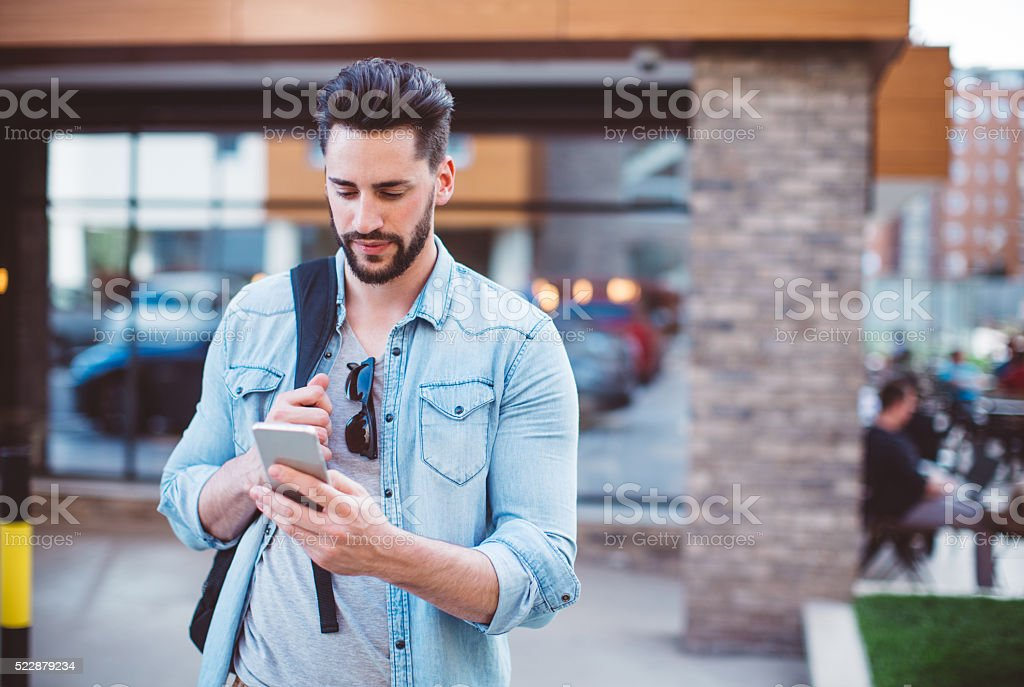 Living in a digital world stock photo