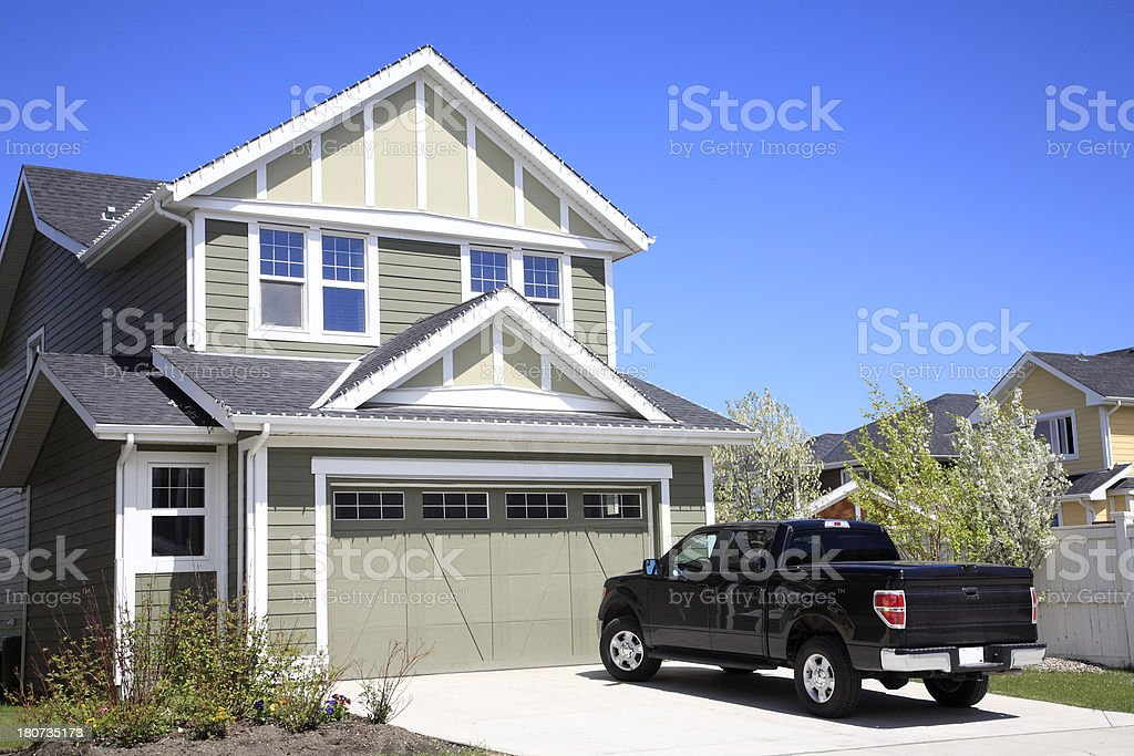 Living In A Very Nice Home stock photo