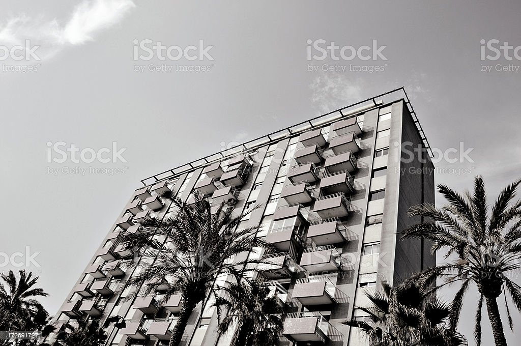 living in barcelona royalty-free stock photo