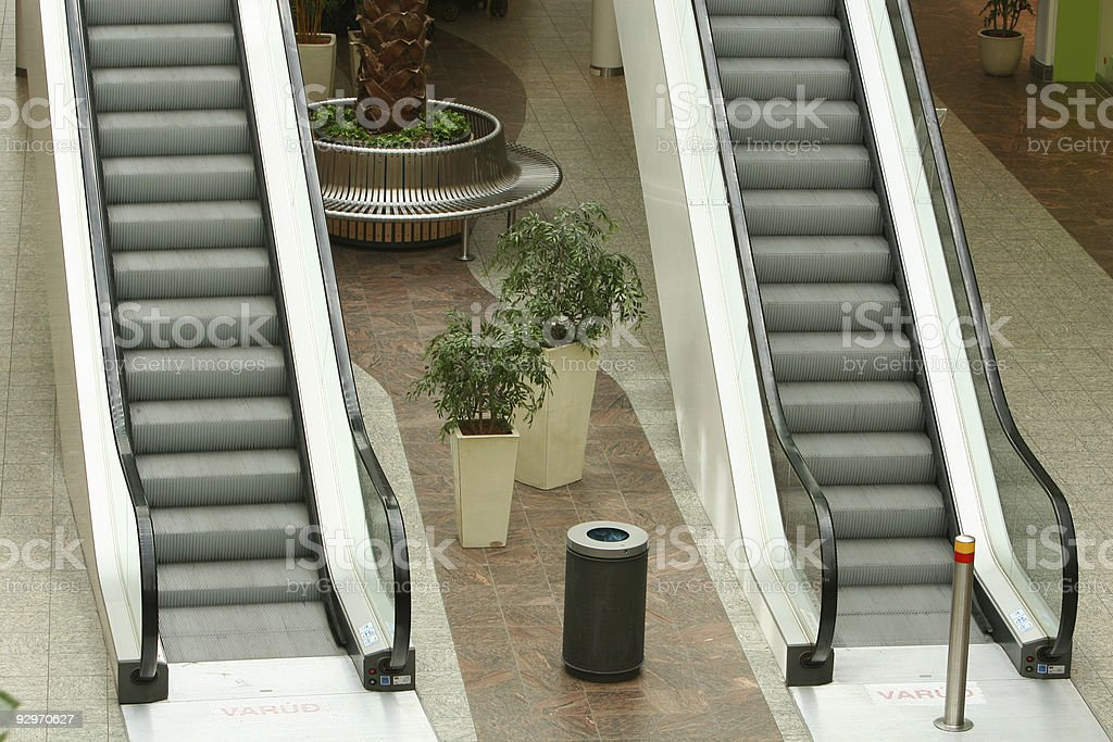 living in escalators stock photo