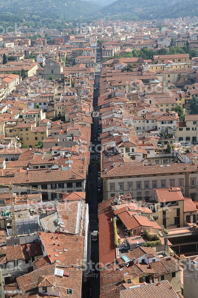 Living in Florence, Tuscany Italy stock photo