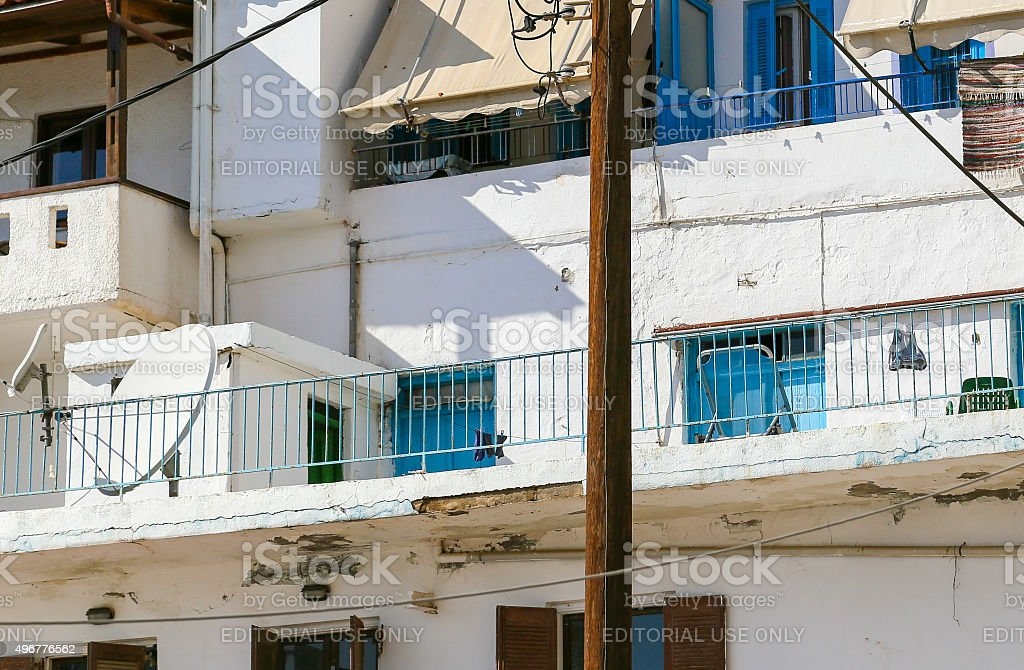 Living in Greece stock photo