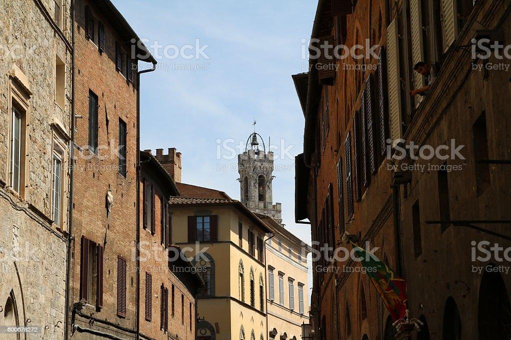 Living in Siena, Tuscany Italy stock photo