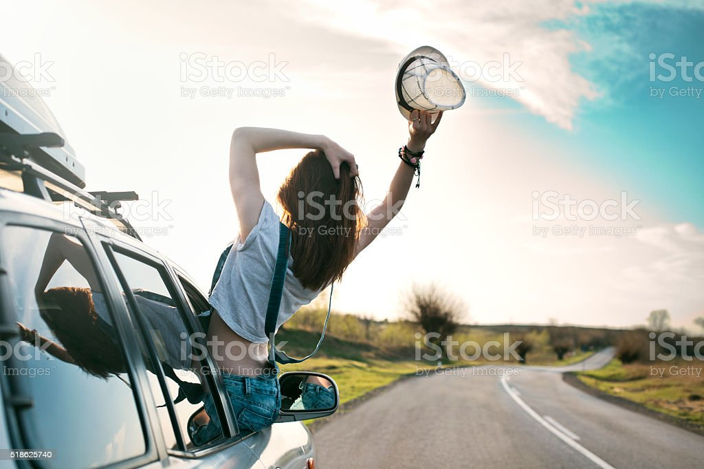 Living in the moment stock photo