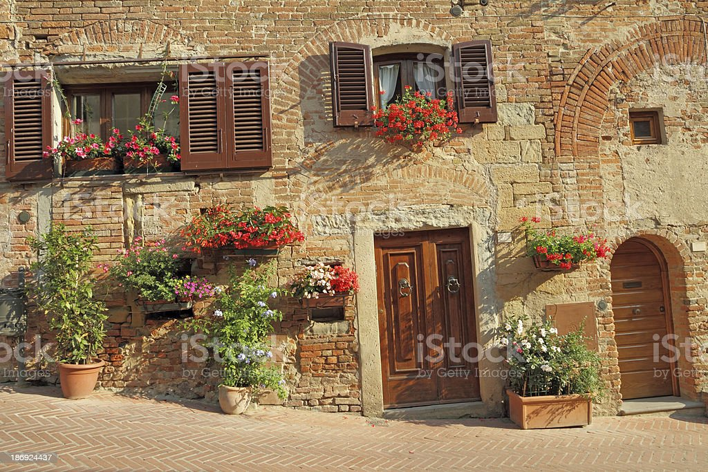 living in Tuscany stock photo